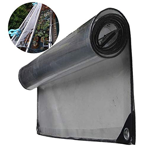 GYYARSX-Plant Covers Glass Clear Tarpaulin Waterproof Heavy Duty Home Use Insulation Cold Protection Windproof Rain Cloth PVC Transparent Thicken Soft Plastic Cloth, 20 Sizes