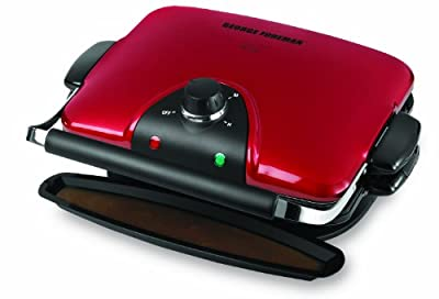 George Foreman GRP92R Indoor Electric Grill, 1, Red