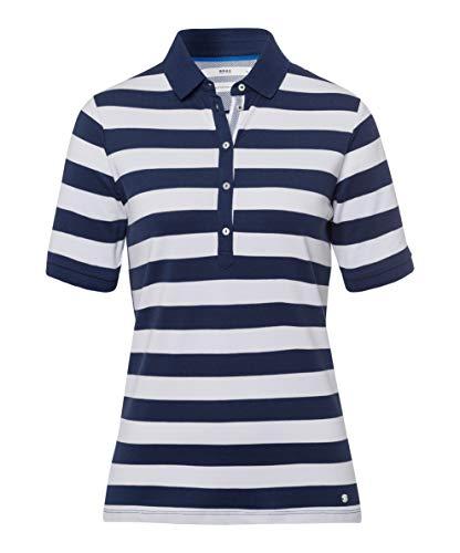 BRAX Damen Style Cleo Polohemd, Indigo, 46