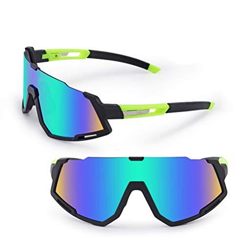 AYily Gafas de nieve unisex a prueba de viento, doble lente con protección anti niebla y UV400, gafas de esquí para motocicleta, deportes al aire libre, Azul, verde.,