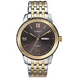 Timex Men's Dress Analog 41mm Stainless Steel Bracelet Watch, Two-Tone