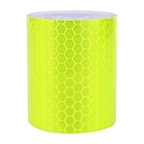Ftvogue - Rotolo di nastro adesivo catarifrangente, riflettente, segnaletico di sicurezza, per auto e pareti, fluorescente, 300 cm