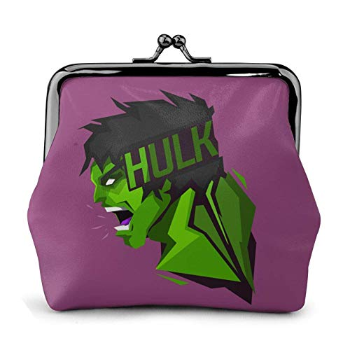 Comics H-ulk Cute Coin Purse for Women -lo Vintage Jewelry Cards Trinkets Pouch Closure Wallet Key Holder Headphones Change Purse Multifunctional Bags