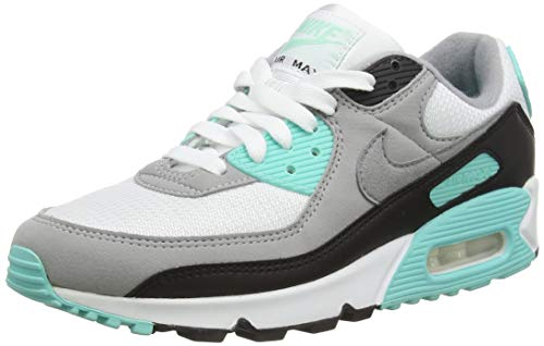 Nike CD0881, Chaussure de Course Homme, White Particle Grey Hyper Turq Black Lt Smoke Grey, 42 EU