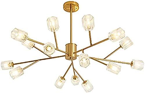 G9 Crystal Sputnik Chandelier Moderno Colgante Lámpara LED Lámpara de lámpara de techo mate para sala de estar Bar Shop Gold D 9 Luces