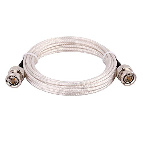 XRDS -RF SDI Cable 10ft, Thin 3G/6G HD-SDI Cable, 75 Ohm RG179 Coaxial Cable with Heavy Duty BNC to BNC Male Connector for Surveillance Camera System Cables CCTV/DVR/TV