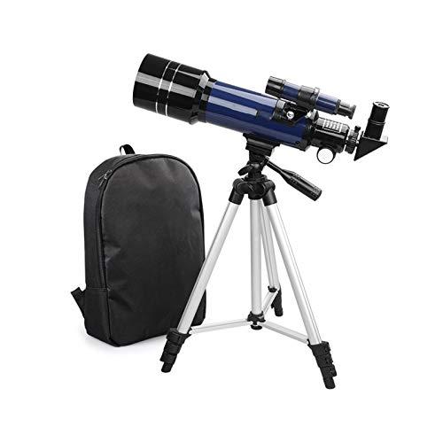 Telescopio Portatile per Bambini, Adulti 70 millimetri telescopio for principianti e bambini, Scope Refracter viaggio for la visualizzazione Luna Sognare attività all'aperto, FMC Lens, BAK4 prisma, Tr