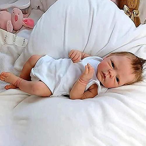 LXTIN Sophia Reborn Doll, Silicona Real Reborn Beby, Juguetes de Vinilo Suave para bebés de 23 Pulgadas