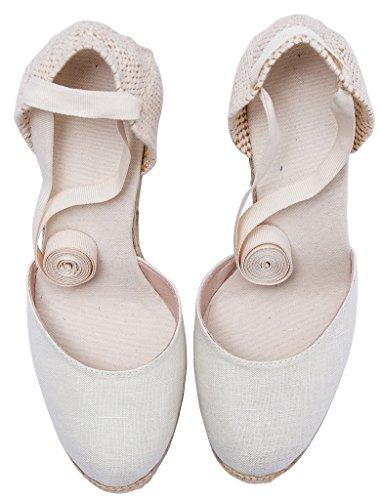 white tie up espadrille sandals