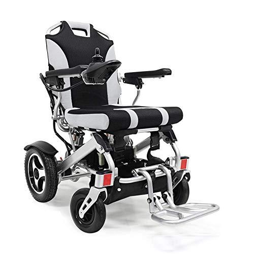 FTFTO Inicio Accesorios Ancianos Discapacitados Silla de Ruedas eléctrica Plegable Ancianos Discapacitados Scooter Portátil Aleación de Aluminio Silla de Ruedas Deportiva Batería de Litio 24V 11Ah