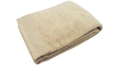 Blanc des Vosges Eponge unie Serviette Invite Coton Sable 30x50 cm