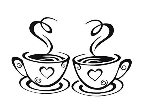 jingyuu wandaufkleber jugendzimmer mädchen wandaufkleber Wandloch wandaufkleber cool ein paar kaffeetasse wandaufkleber wandaufkleber ziegelstein(1 pcs)