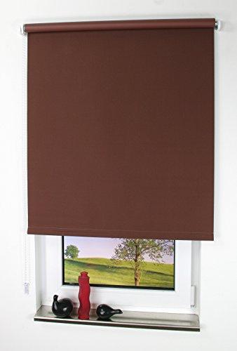 Liedeco 62x 180cm unifarben Verdunklungsrollo, schwarz, Dunkelbraun, 092 X 180 cm