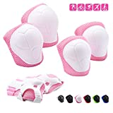 Adicop Kids Knee Pad Elbow Pads Guards for 3-8 Years Old Boys Girls 3 in 1 Kids Protective Gear Set for Rollerblading Skateboard Cycling Skating Bike Scooter (Pink)