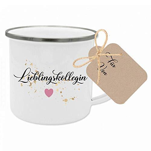 """Tasse mit Spruch """"Lieblingskollegin"""" I Das perfekte Geschenk für die Kollegin I Geschenkidee zum Geburtstag und als Dankeschön I mit Geschenkanhänger"""