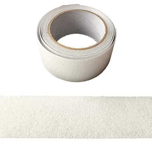 5Meter DURCHSICHTIG Anti-Rutsch Klebeband Mehr Grip Rutschhemmendes Band Streifen 50mm für Innen & Aussen - mehr Sicherheit auf Leitern, Gerüste, Skateboards, glatten Oberflächen - 50mm breit