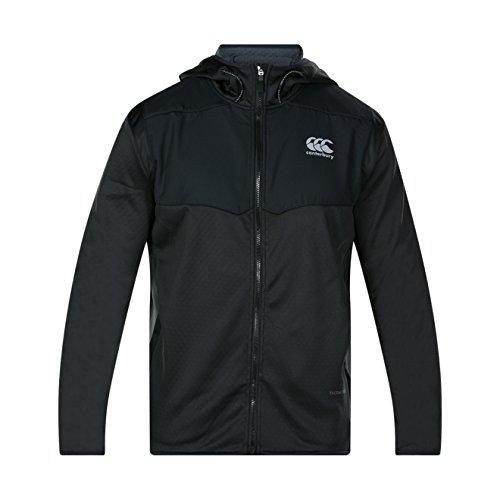 Canterbury of New Zealand Herren Thermoreg Spacer Fleece Full Zip Kapuzenpullover, schwarz, XS