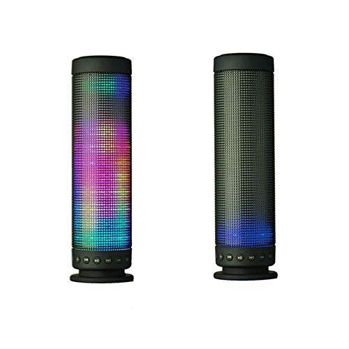 Yuzhijie Creativo inalámbrico bluetooth altavoz noche luz al aire libre mini portátil regalo audio led linterna subwoofer inteligente