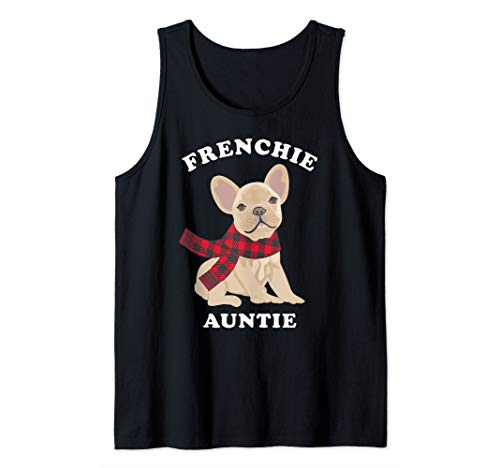 Fun Frenchie Auntie French Bulldog Aunt Gift Family Matching Tank Top
