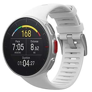 POLAR VANTAGE V – Premium GPS Multisport Watch for Multisport & Triathlon Training (Heart Rate Monitor, Running Power, Waterproof), Standard Edition, White