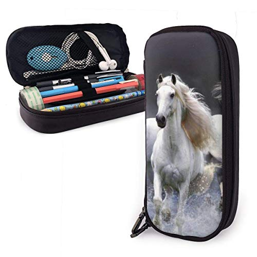 Make-up tas, Paarden Zee Golven Stationery Tas, Aantrekkelijke Pen Cases voor Bruiloft Vakantie Verjaardag, 20x9x4cm