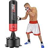 Maxstrength® Standfußsack zum Boxen oder Kickboxen, 180 cm, Schwarz