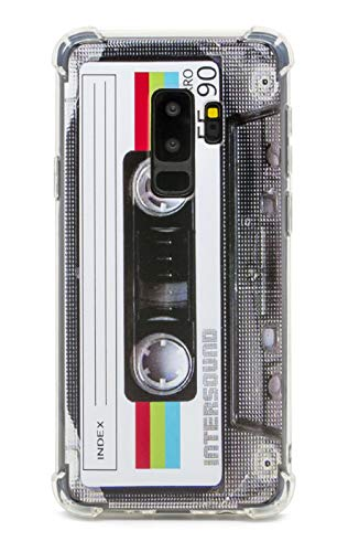 FAteamll Case for Galaxy S9 Plus,with Reinforced Corners TPU Soft Bumper Retro Cassette Tape Case Compatible with Samsung Galaxy S9+