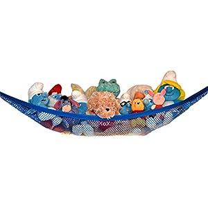 Stuffed Animal Hammock – Toy Hammock – Stuffed Animal Net to Hang on Bedroom Wall – Teddy Bear Hanging Net – Stuffie Storage by Kidde Time (White)