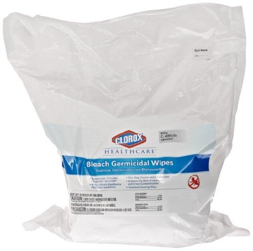 Clorox Healthcare Bleach Germicidal Wipe, Refill (110 Count) (CLO30359)