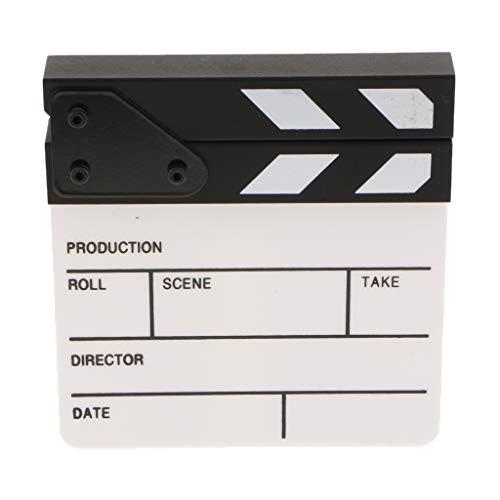 H HILABEE Tablero De Acrílico Profesional Cámara De Estudio Fotografía Video Borrado En Seco Director Película Película Claqueta Tablero Pizarra 6.5x6 Pulgadas
