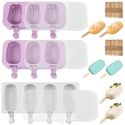 Popsicle Molds - Bunny Molds,2pcs 3 Cavitie+ 4-...