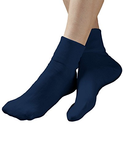 Buster Brown 100% Cotton Socks, Navy, 10, 6-pk