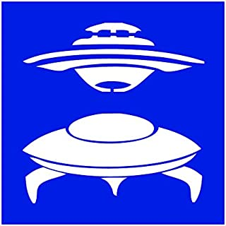 Auto Vynamics - STENCIL-SPACE-UFOS - Pair Of UFO's Individual Stencil from Classic Aliens & UFO's Stencil Set! - 10-by-10-inch Sheet - Single Design