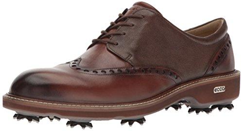 ECCO Men's Luxe Hydromax Golf Shoe, Bison/Stone, 40 M EU (6-6.5 US)