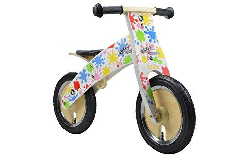 kiddimoto 2kur624 - Premium Laufrad Splatz, Farbkleckse verstellbar für 3-6 Jahre