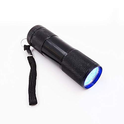 Xiaoyao24 Lámpara UV para resina, 9 W Resina UV lámpara de curado luz 9 LED 395nm UV Blacklight linternas para uñas de gel