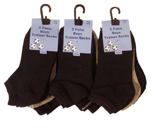 u-wear 15 Socken für Jungen Einfarbig (23-26)