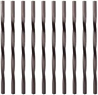 Deckorators Aluminum Twist Balusters 10 Pack, Bronze, 32 Inch