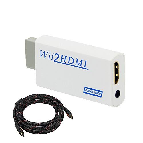 YiYunTE Wii zu HDMI Adapter Wii to HDMI Konverter 720P 1080P HD Wii2HDMI Converter Wii an HDMI mit 3,5mm Audioausgang wii Konsole Adapter für Monitor TV Beamer Fernseher mit 2 M HDMI Kabel