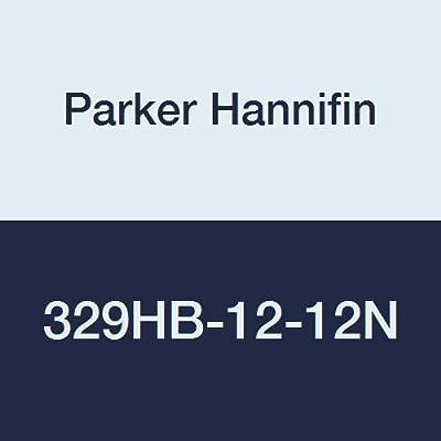 "Parker Hannifin Par-Barb Nylon Male Elbow Fitting, 90 Degree Angle, 3/4"" Hose Barb x 3/4"" Male NPT, White"