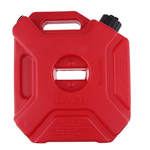 IPOTCH Color Rojo 5L Lata de Gasolina Aceite de Motor de Gasolina Lata de Gasolina de 5 Litros Línea de Combustible Línea de Aceite