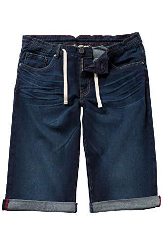JP 1880 Herren große Größen bis 70, Jeans Shorts, Bermuda, FLEXNAMIC® Denim, Tunnelzug, Reißverschluss, Blue 66 708366 92-66
