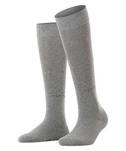 ESPRIT Damen Basic Pure W KH Socken, Blickdicht, Grau (Light Grey Melange 3390), 35-38 (UK 2.5-5 Ι US 5-7.5) (2er Pack)