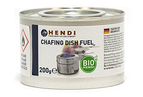 Hendi Brennpaste, ruß- und geruchlos, Brenndauer ±3 Stunden, 24 Stück, Brenngel, Fire Paste, für Wärmebehälter, zum Warmhalten von Speisen, für Chafing Dish, 200gr