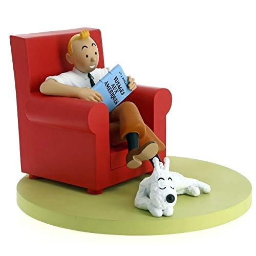 Moulinsart- Resina Tintin Sofá Rojo-Colección Los Iconos, Color, Tamaño Único (46404)