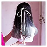 YUNGYE Cuerda para el pelo con borla, Hanfu merece actuar el papel del traje antiguo, neumático retro rojo cuerda banda para el pelo antiguo Lolita Hanfu accesorios (color blanco)