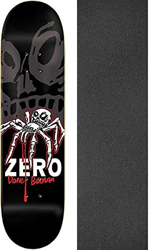 Zero Skateboards Dane Burman Insect Skateboard-Brett/Deck, 21,6 x 80 cm, mit schwarzem Jessup Griptape, 2 Stück