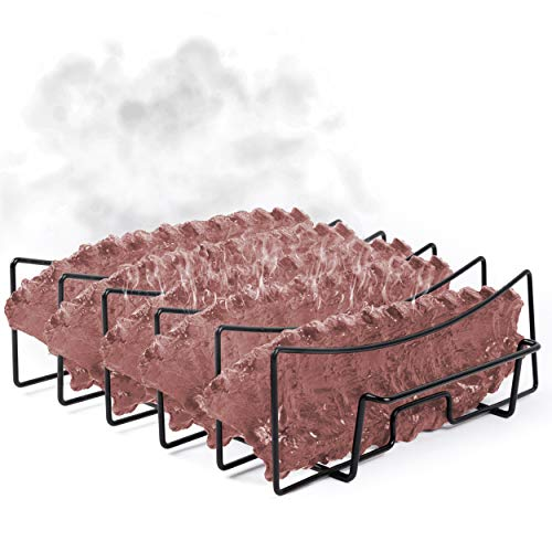Sparkit Large and Extended Rib Rack for Smoking and Grilling