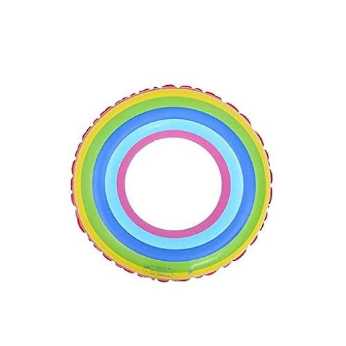 Gcxzb Schwimmreifen Dicker PVC-Erwachsener-Schwimmring Rainbow lengt aufblasbare Rettungsring im Freien Schwimmer (Color : XL)