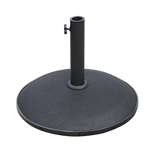 Outsunny 25kgs Round Umbrella Base Concrete Parasol Weight Stand Patio Outdoor Black Dia 50cm
